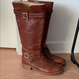 Coach brown leather riding boots, size 8